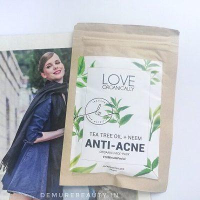 love organically anti acne face pack