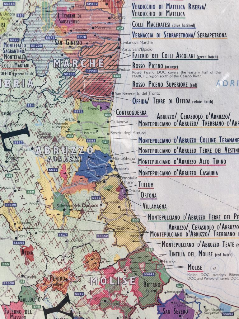 **Abruzzi Images Courtesy of Delong Maps, Purchase These Wine Maps at Delongwine.com