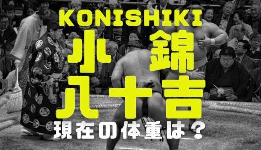 小錦八十吉KONISHIKIの2021年今現在の体重と現役関取時代の比較