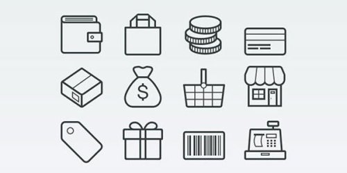 ecommerce and shopping vector icons2 - Free Vector Ecommerce and Shopping Icons