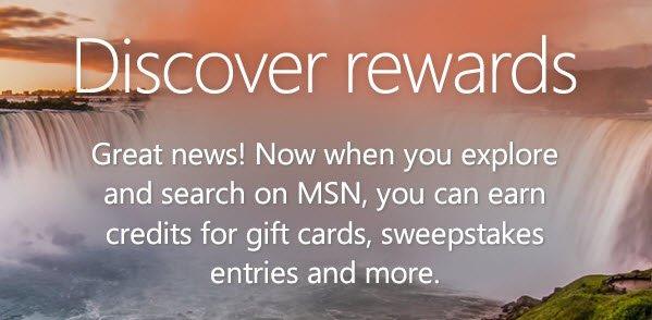 msn main MSN   Bing Rewards