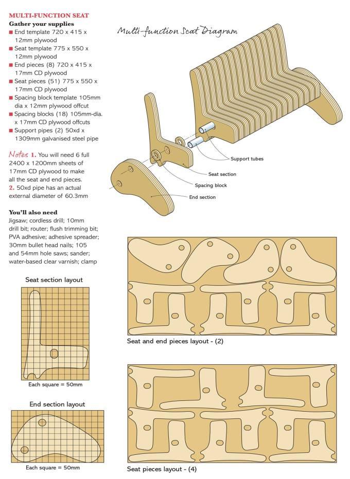 multi function seat Plywood Multi function Seat