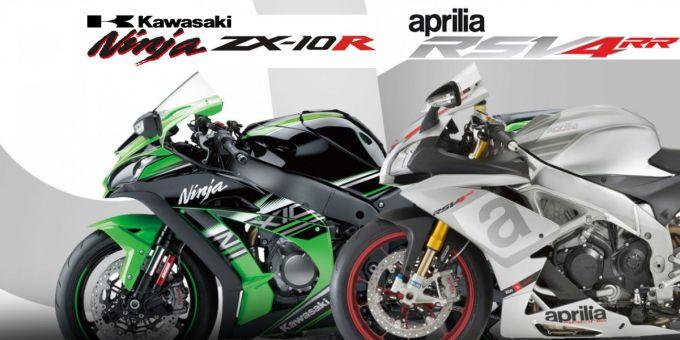 rsv4 rr vs zx10r Kawasaki Ninja ZX 10R VS Aprilia RSV4 RR   2016 Performance Superbikes for under $17000