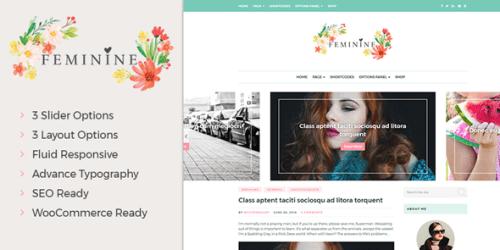 feminine wp theme - Feminine WordPress Theme For Fashion, Lifestyle, Travel and Beauty Bloggers