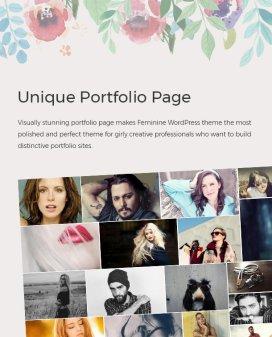 unique portfolio page - Feminine WordPress Theme For Fashion, Lifestyle, Travel and Beauty Bloggers