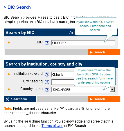 Using the search