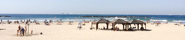Beach at Tel Aviv, end of season.