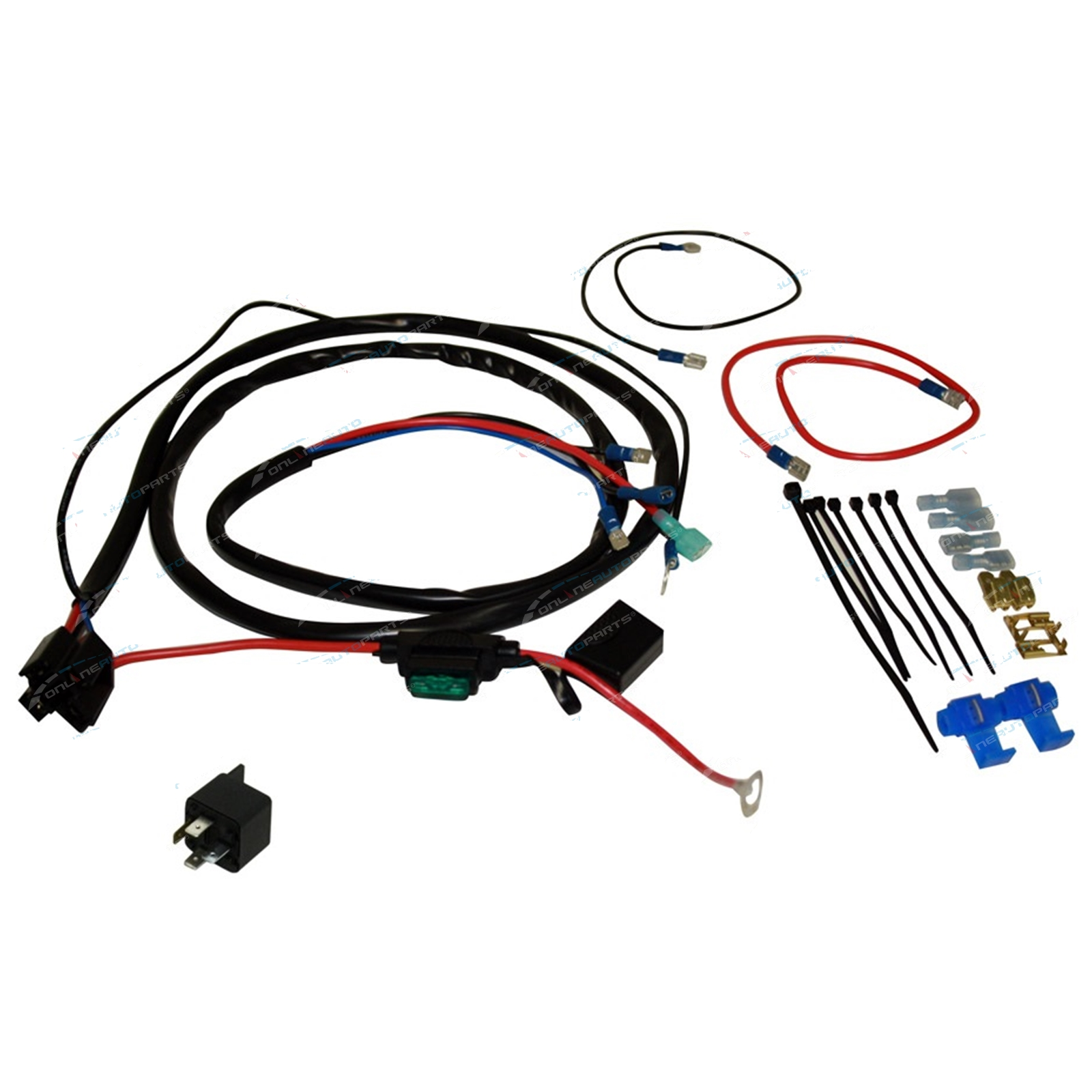 Basic horn or l wiring kit air electric car bike truck incl new relay fuse