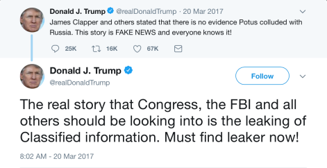 Trump Tweet Comey hearing Clapper Leaker BOTH.png
