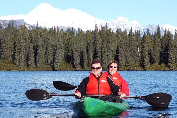 kayaking with sit-on-top-kayaks in Alaska