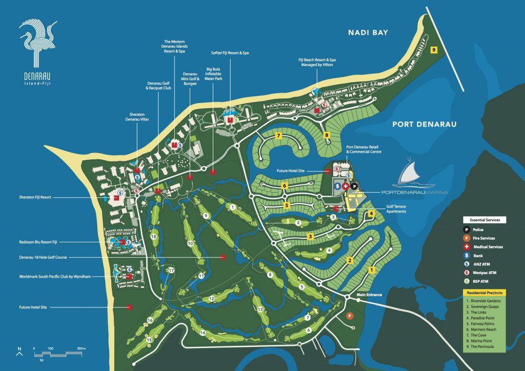 Denarau Island Map