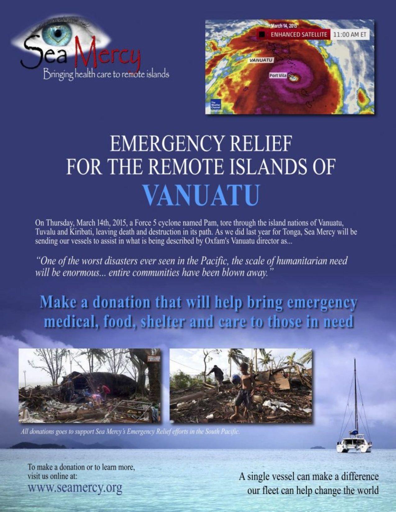 Vanuatu Relief Flyer