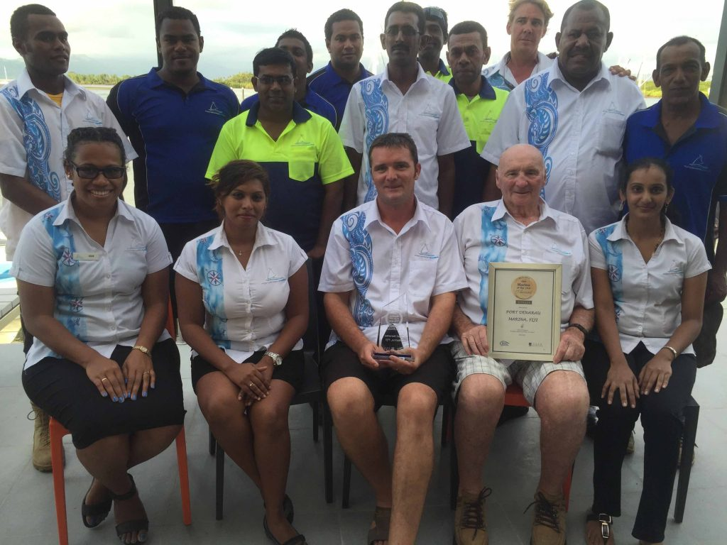 Port Denarau Marina Team with Award