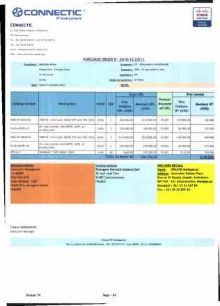 RANARISON Tsilavo ont signé les bons de commande de EMERGENT pour WESTCON Africa_Page24