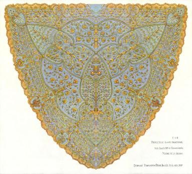 Diseño del manto de la virgen de Consolación de la Sed