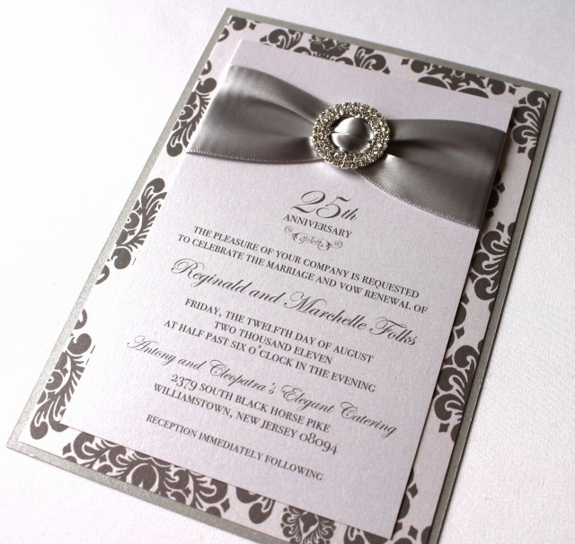 25Th Wedding Anniversary Invitations Lovely 3 Sample Wedding Anniversary Invitations Wedding Ideas