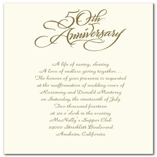 50Th Wedding Anniversary Invitation Wording 50th Wedding Anniversary Invitations Templates Wedding Themes Ideas