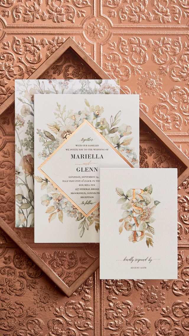 Amazing Wedding Invitations Gorgeous Wedding Invitations With Copper Foil Introducing The