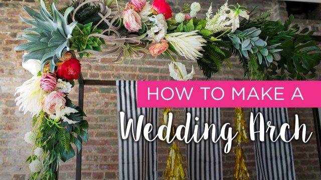 Arch Decorations For Weddings How To Wedding Arch Youtube