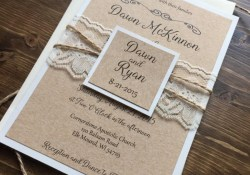 Barn Wedding Invitations Rustic Wedding Invitation Vintage Wedding Invitation Lace Wedding