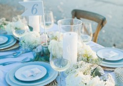 Beach Wedding Table Decorations 35 Romantic Beach Wedding Table Settings Weddingomania