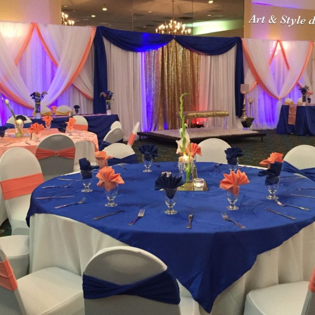 Beautiful Wedding Decorations Decorations Beautiful Wedding Decor Royal Blue And Coral