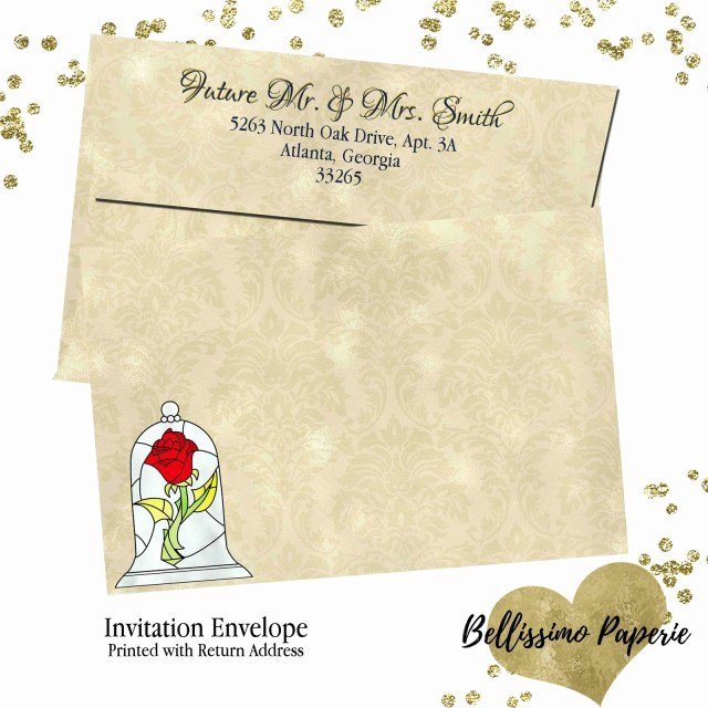Beauty And The Beast Wedding Invitations Beauty And The Beast Wedding Invitations Lgant Beauty And The