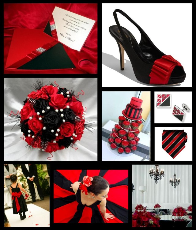 Black And Red Wedding Invitations Black Magic Red Passion Wedding Inspiration Pinterest Red