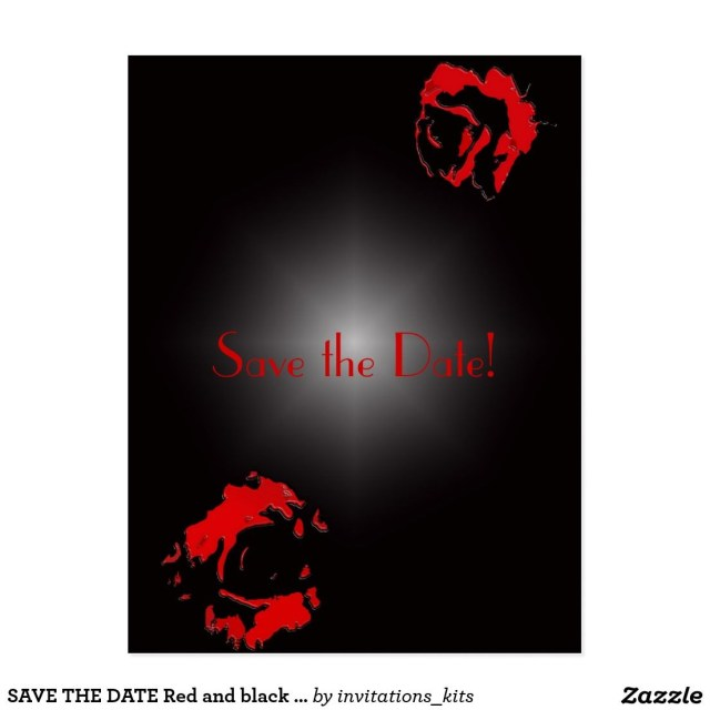 Black And Red Wedding Invitations Save The Date Red And Black Wedding Invitations Rgp Cards