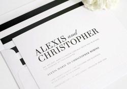Black And White Striped Wedding Invitations Glamorous Black And White Wedding Invitations Wedding Invitations
