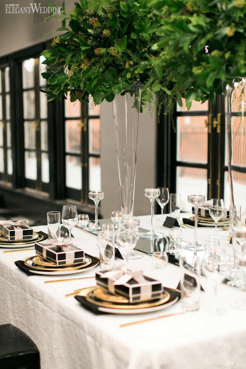 Black And White Wedding Decor Black And White Wedding With Pops Of Green Elegantweddingca