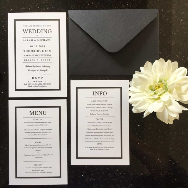 Black And White Wedding Invitations Black And White Wedding Invitations And Stationery Wagtail Designs