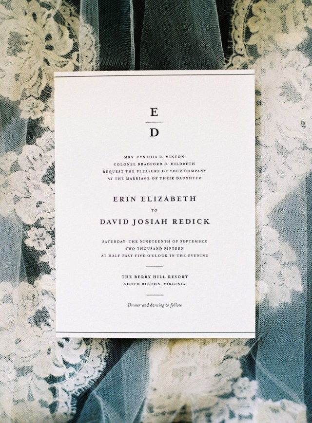 Black And White Wedding Invitations Classic Black White Wedding At Berry Hill Resort