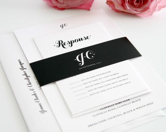 Black And White Wedding Invitations Wedding Accessories Blank Wedding Invitation Cards Bespoke Wedding