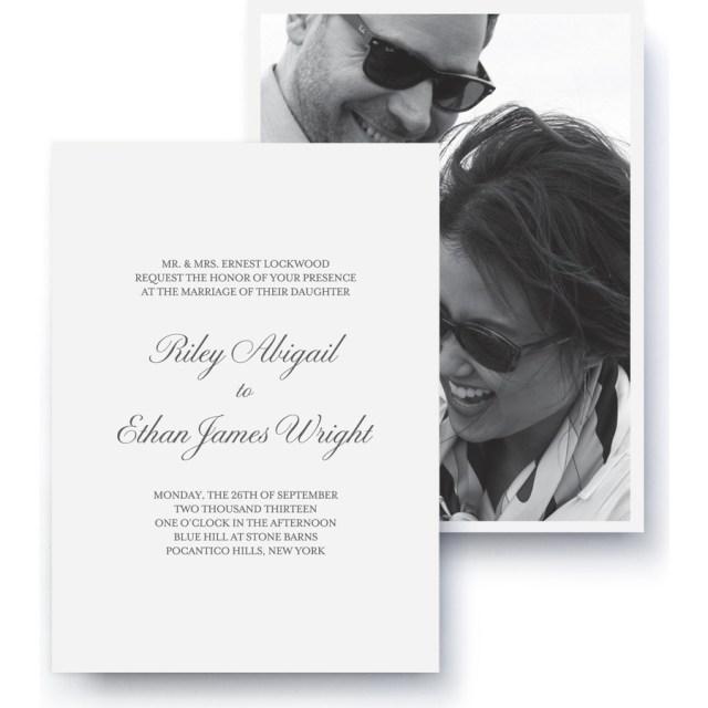 Black Tie Wedding Invitations Black Tie Photo Wedding Invitation Pinhole Press