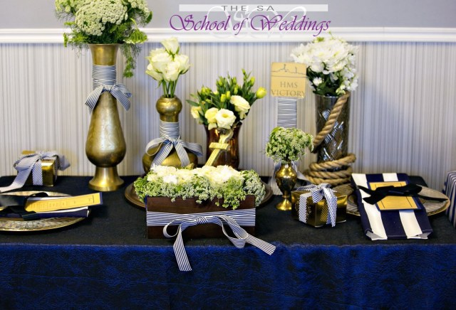 Blue And Gold Wedding Decorations Blue Gold Wedding Within Wedding Decor Courses In Johannesburg