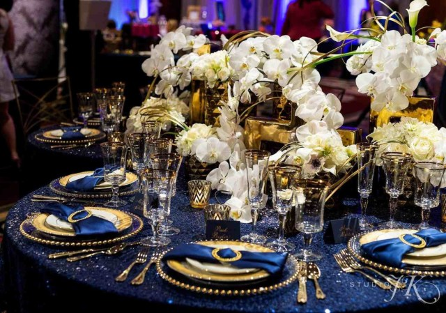 Blue And Gold Wedding Decorations Inspiration Navy Blue And Gold Wedding Decorations S Decorating