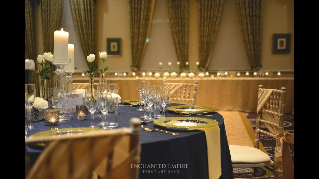 Blue And Gold Wedding Decorations Navy And Gold Wedding Theme Styled Enchanted Empire Event