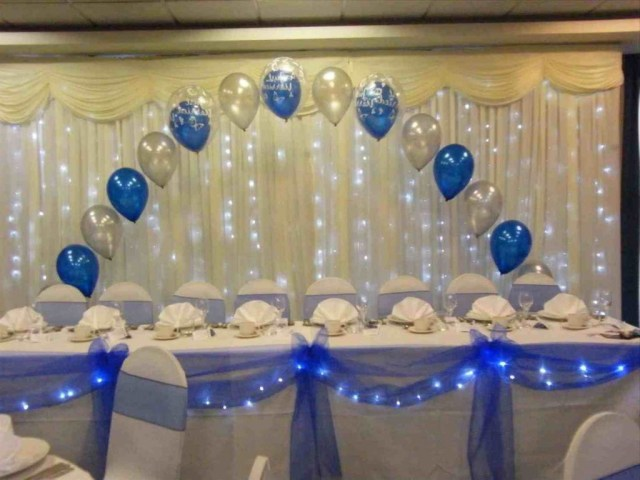Blue And White Wedding Decor Ideas Decorations Royal Blue Gold And White Wedding Decorations Table