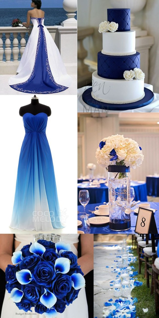 Blue And White Wedding Decor Ideas Royal Blue And White Wedding Theme On Cool Wedding Frames