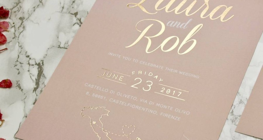 Blush And Gold Wedding Invitations Luscious Type Blush And Gold Wedding Invites Rodo Creative