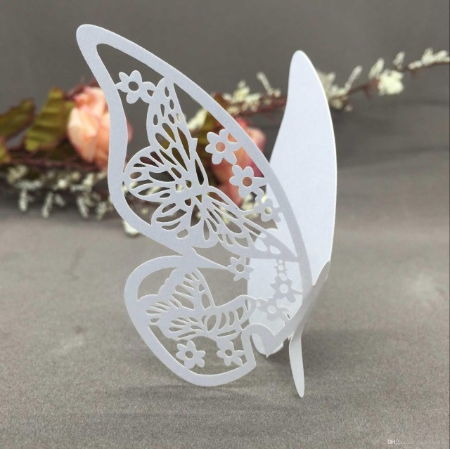 Butterfly Wedding Decorations For Tables Butterfly Seating Cards Laser Cut Hollow Paper Name Card For Party