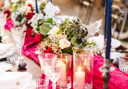 Candle Decorations For Wedding Ceremony 10 Ways To Use Colorful Taper Candles At Your Wedding Reception Brides