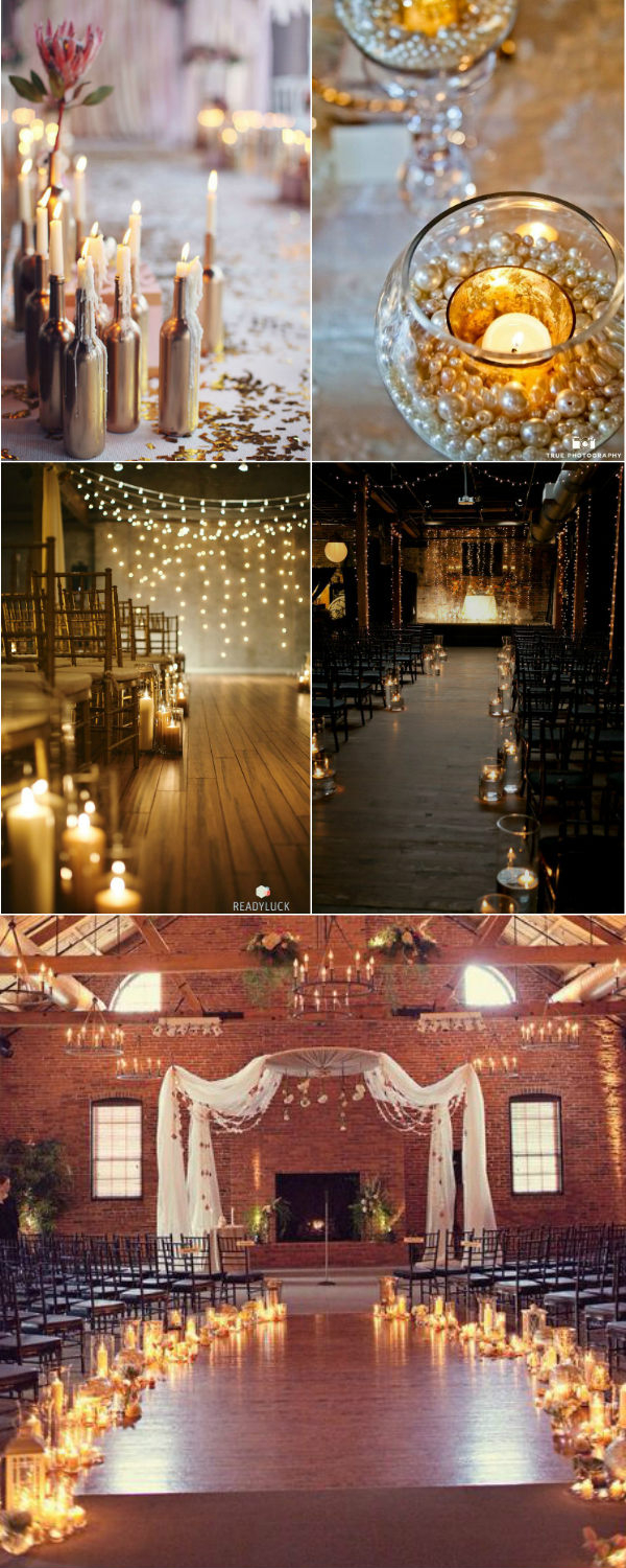 Candle Decorations For Wedding Ceremony 36 Stunning Wedding Ideas With Candles Elegantweddinginvites Blog