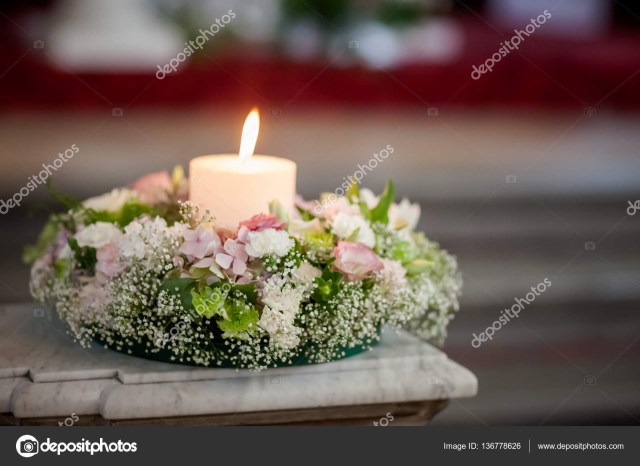 Candle Decorations For Wedding Ceremony Beautiful Church Decorated For Wedding Ceremony Stock Photo