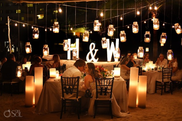 Candle Decorations For Wedding Ceremony Dreams Puerto Aventuras Wedding With Beautiful Candle Lit Reception