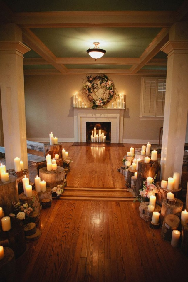 Candle Decorations For Wedding Ceremony Rustic Candle Wedding Ceremony Decor Weddingcandlesie