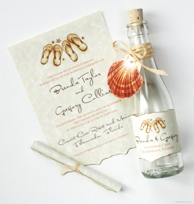 Cheap Beach Wedding Invitations 21 Bottle Beach Wedding Invitation Ideas Custom Invitations