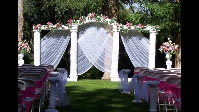 Cheap Outdoor Wedding Decorations Home Garden Wedding Decoration Ideas Youtube