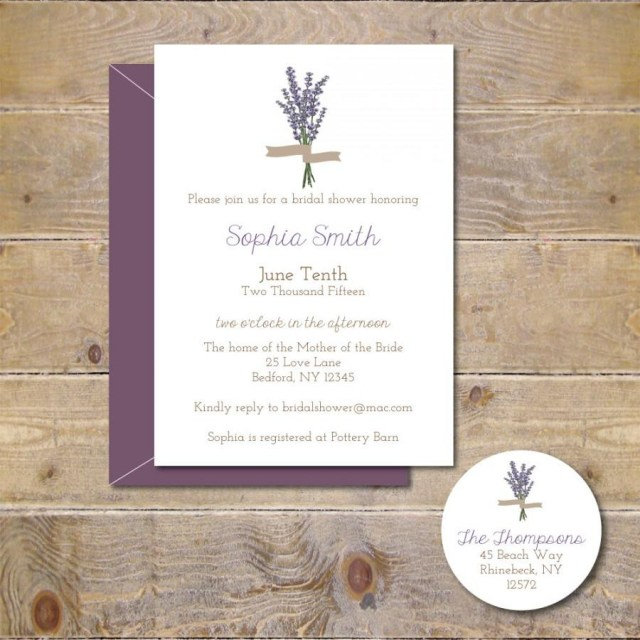 Cheap Wedding Shower Invitations Bridal Shower Invitations Bridal Shower Lavendar Flowers Bridal